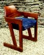 Writing Desk Chair in Embuya and Suede