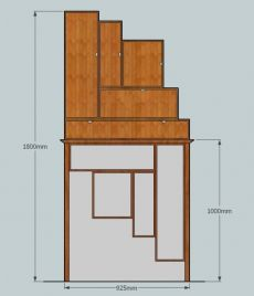 Alcove cabinet and stand